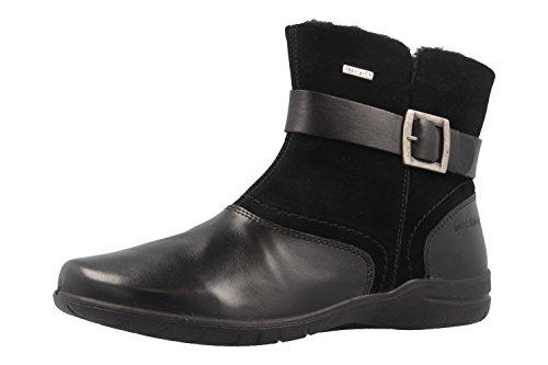 BLACK Womens VL782600 Boots Casual Josef Fabienne 15 LEA Buckle Seibel qIP8gS