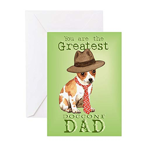 CafePress Chihuahua Father's Day Greeting Card, Note Card, Birthday Card, Blank Inside Glossy