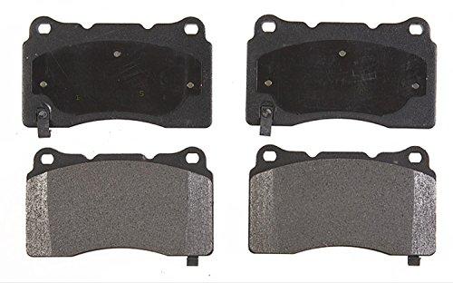 Front Brake Set Pad Semi (ACDelco 17D1050M Professional Semi-Metallic Front Disc Brake Pad Set)
