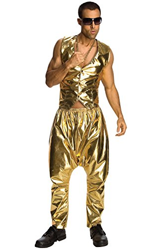 [Rubie's Costume Mc Hammer Lame Pants, Gold, One Size] (Mardi Gras Costumes Vest)