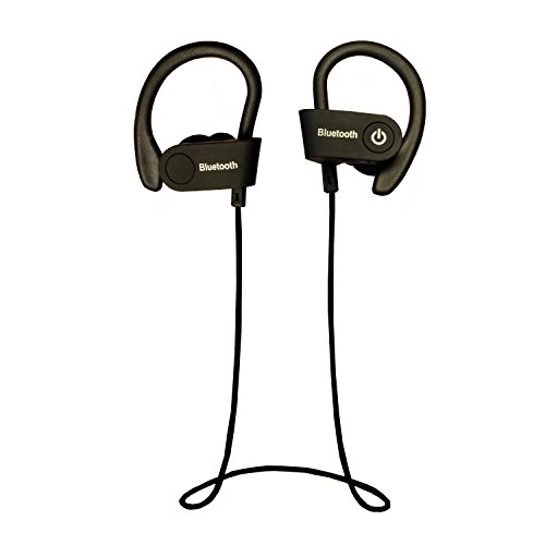 Cordless Headphones by Vitchelo - Wireless Bluetooth Headphone with Mic, Earhooks and Neckband - In Ear Earbuds Best for Running and Workout - Decent Sound, Better Wireless