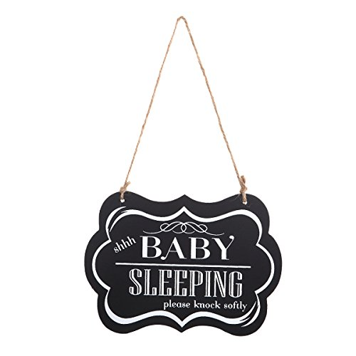 - WINOMO Baby Sleeping Sign Shhh Baby Sleeping Please Knock Softly Wood Decorative Sign Nursery Hanging Plaque Baby Door Cot Sign