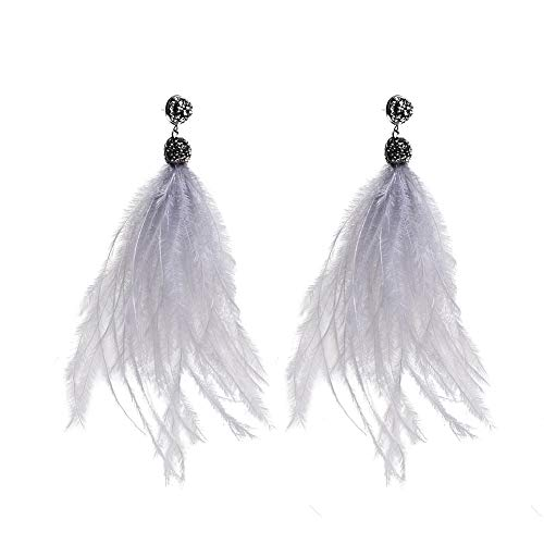 TOKO Feather Long Dangle Earring Charm Feather Earrings Women Girls