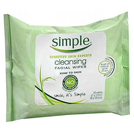 Amazon.com: Simple Clean Face Wipes Size 25ct Simple Clean Face Wipes 25ct: Beauty