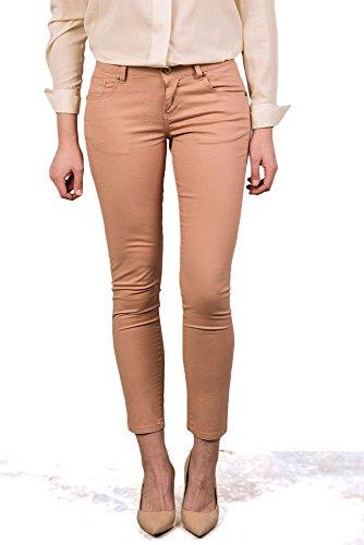 V&L - Pantalon Talle Bajo, Mujer, Color Marron, Talla 30