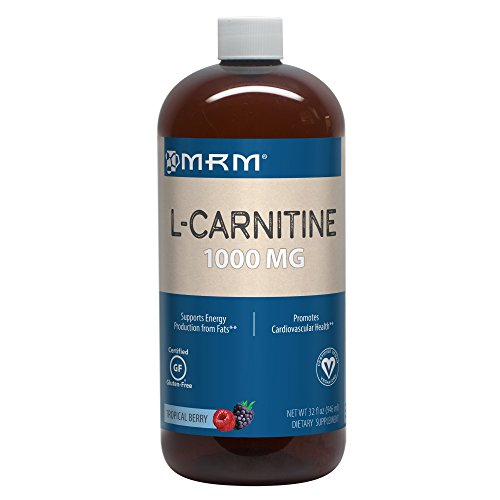 MRM - L-Carnitine 1000, Supports Energy Metabolism, Cardiovascular and Liver Health (Tropical Berry Flavor, 32 oz)