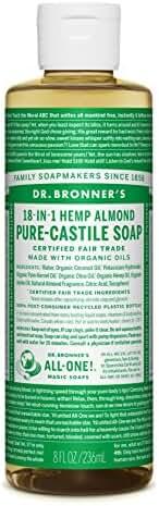 Dr. Bronner Almond Oil Liquid Soap, 8 Ounce