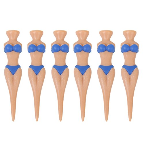 6pcs Novelty Bikini Lady Golf Tees Divot Tools Joke Xmas Gift Stag Party
