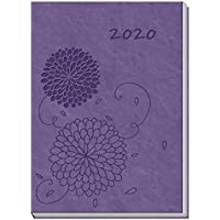 "Taschenkalender A7 ""Soft Touch Blumen"" 2020: 7 x 10 cm, 136 Seiten, Leseband"