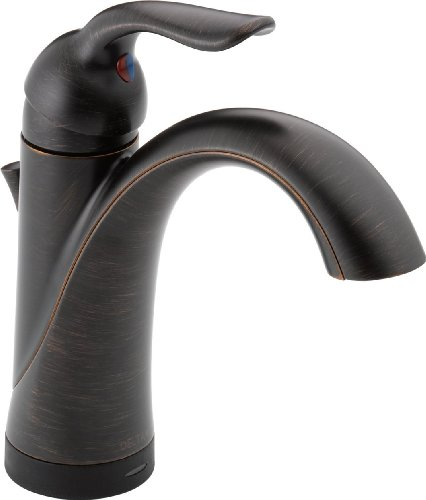 (Delta Faucet Lahara Single-Handle Bathroom Faucet with Diamond Seal Technology and Drain Assembly, Venetian Bronze 538T-RB-DST)