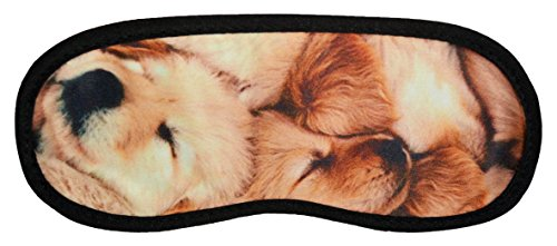 Sleepwell Cute Golden Retriever Puppies Sleep Mask