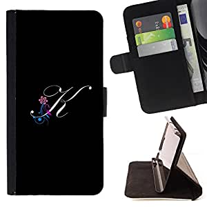 Jordan Colourful Shop - Black initials letter calligraphy text For Apple Iphone 6 - Leather Case Absorci???¡¯???€????€???????&bdquo