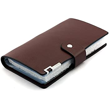 Business card holder book leather gallery card design and card amazon longdex soft leather business name card holder book longdex soft leather business name card holder reheart Image collections