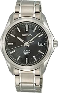 Seiko Solar Reloj elegante para hombres Diseño Clásico