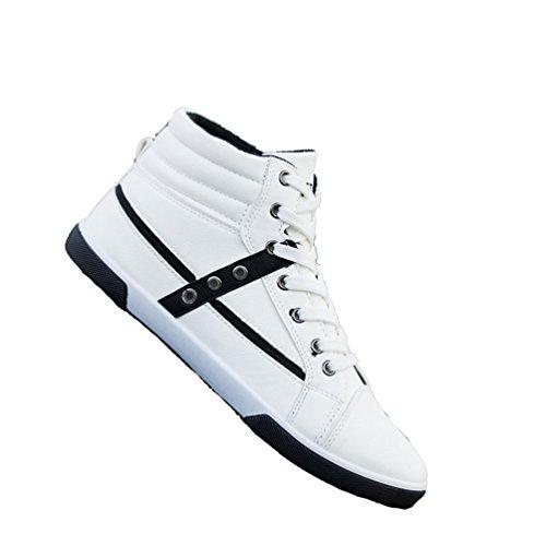 Lacets Chaussure Blanc de Sport Taille à XIGUAFR de l'étudiant Casual Chaussure Pour Homme Grande qEfwgwp6