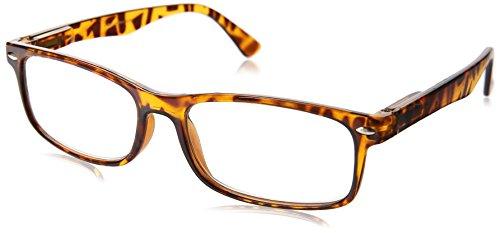 Dr. Dean Edell Thin Wayfarer Reading Glasses, Tortoise