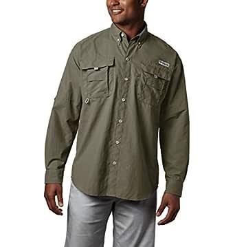 Columbia Men's Bahama Ii Long Sleeve Shirt, Sage, 5XT