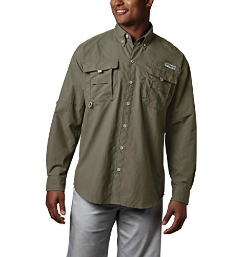 Columbia Men's PFG Bahama II Long Sleeve Shirt , Sage, XX
