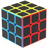 Hello Surprise High Speed Carbon Fiber Sticker 3x3 Colors Magic Cube Puzzle Toy with Adjustable Speed (5.5cm)