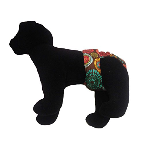 70%OFF Dog Diapers - Made in USA - Fireworks on Brown Washable Dog Diaper for Dog Incontinence, Housetraining and Females in Heat