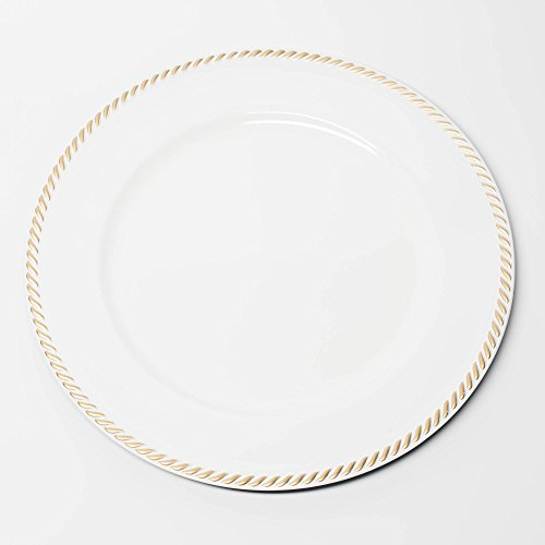 Gold Textured Rim - Richland Charger Plate 13