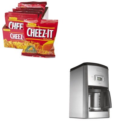 KITDLODC514TKEB12233-Value-Kit-Delonghi-DC514T-14-Cup-Drip-Coffee-Maker-DLODC514T-and-Kelloggs-Cheez-It-Crackers-KEB12233