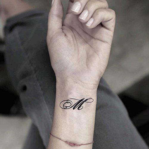 Tatuaje Temporal de Letra m (2 Piezas) - www.ohmytat.com: Amazon ...