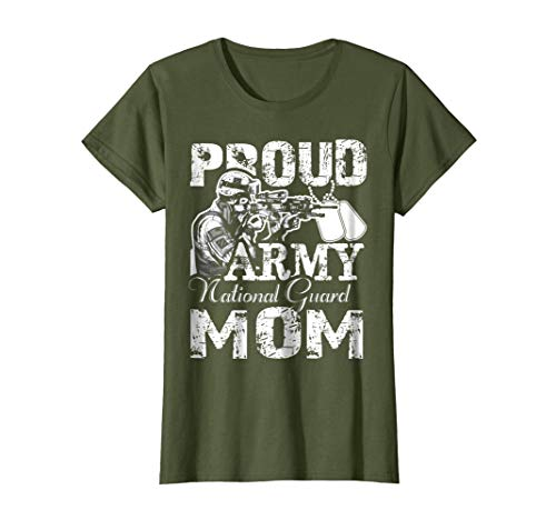 Womens Proud Army National Guard Mom Shirt XL Olive