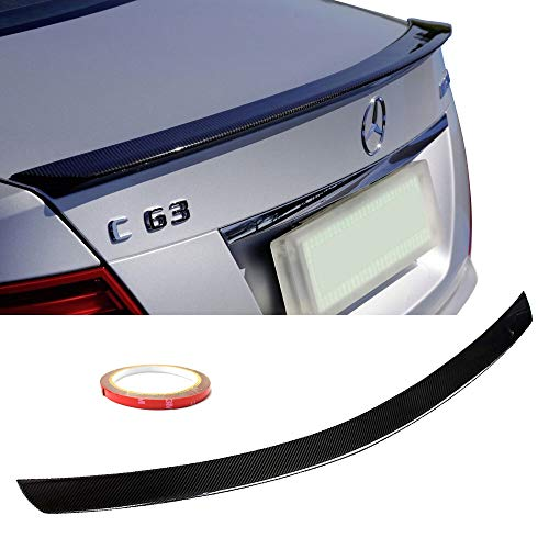 (Fits 2008-2014 Mercedes-Benz C-Class W204 4 DoorAMG Style Carbon Fiber CF Rear Trunk Spoiler Wing Black )