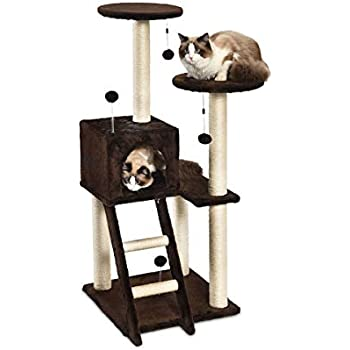 Amazon.com: 4 Tier Cat tree- multinivel Cat Torre de peluche ...