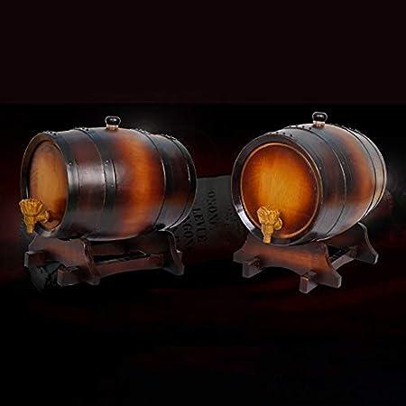 SS mutong Barril de Roble Oak Ageing Barrels Whisky Barrel Dispenser Inicio Wine Bucket Whisky Barrel for elaborar Cerveza o almacenar Cerveza, Vino Blanco, Brandy Vino, Cerveza, Sidra, Whisky.