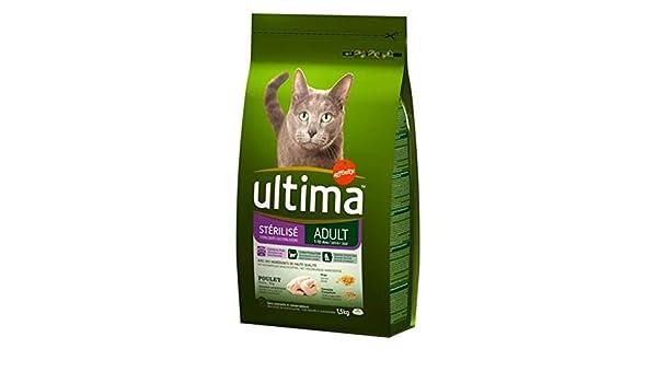 Ultima Esterilizados 1,5 Kg De Pollo Seco del Gato Adulto (Set De ...