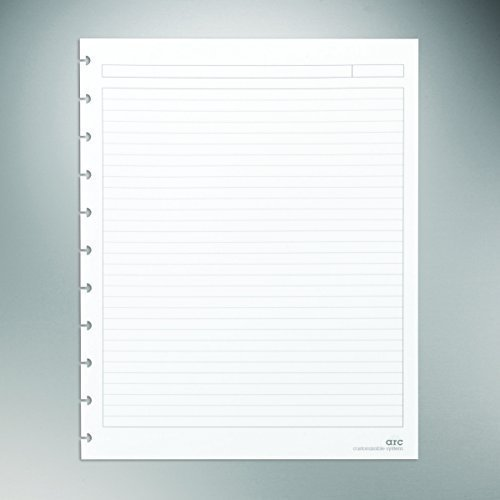 Staples? Arc Notebook Filler Paper, Letter-size, Narrow-Ruled, White, 8 1/2