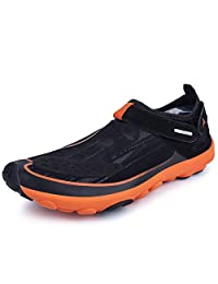 AIRIKE Men's Barefoot Quick Drying Aqua Water Shoes Beach Swim Shoes Slip on Anti-Slip Multifunctional Sneakers 12 Holes Drainage System for Swim, Walking, Yoga, Lake, Beach