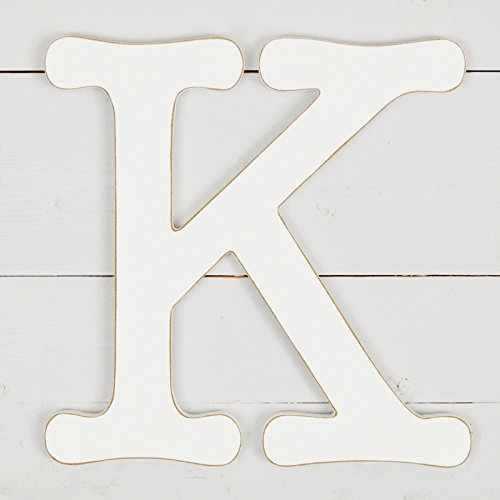11.5'' Typewriter Wall Decor Letter ''K''- White by UNFINISHEDWOODCO