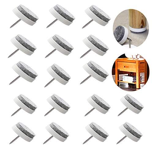 Osuter 60PCS Almohadilla Fieltro Muebles Protector Clavo Antideslizante Clavo de Pies para Silla Mesa Muebles Almohadilla de Pie