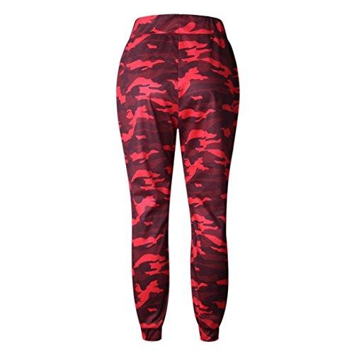 Trousers Tendance 0 Jeans Jogging Haute Camouflage Cool Femme Rouge Taille Imprim Pantalon Sports Camouflage2 Casual SANFASHION qR8PHZ
