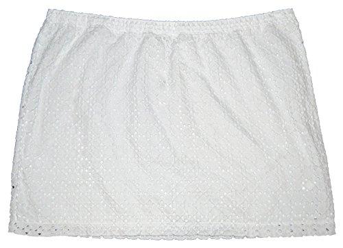 - GAP Womens White Eyelet Lined Mini Skirt XXL