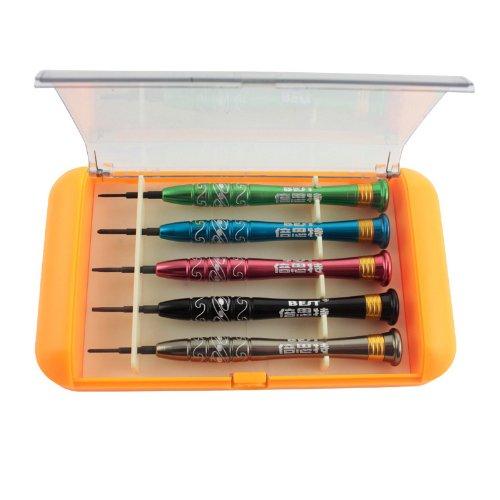 Docooler 5 in 1 Precision Screwdriver Disassemble Repair Tools Kit for iPhone Mobile Phone Laptop BEST-668S