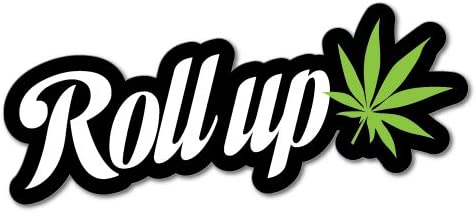 Roll Up Weed Funny Sticker Decal 420 Dope Car Funny Auto