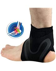 NCNC Supporto stabilizzatore alla Caviglia, avvolgimento Traspirante Regolabile per Supporto del Piede per ridurre la Manica del Dolore per Lo Sport delle Donne degli Uomini
