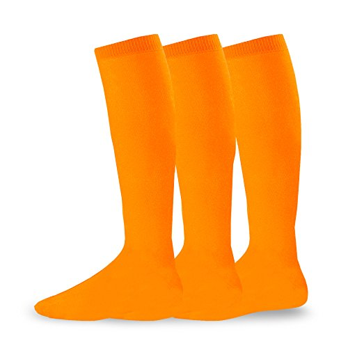 Soxnet Acrylic Unisex Soccer Sports Team Cushion Socks 3 Pack (Medium (9-11),...