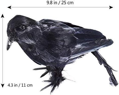 Qy217 Colgante Deco Innovador 2 UNIDS Cuervos de Pluma Negro ...