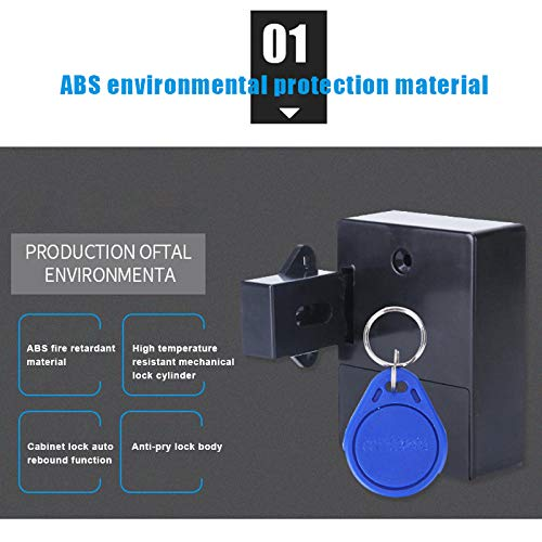 JIEHED Electronic Opening Sensor Drawer Lock Smart Lock for Locker Drawer Smart Sensing Induction Cabinet Wardrobe Door Lock Home Security Locks