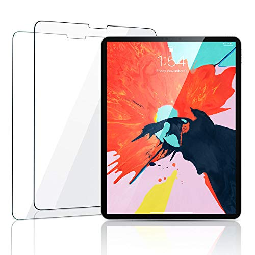 【2 Pack】 Screen Protector Compatible ipad pro 11, [Face ID Recognition] Tempered Glass Screen Protector iPad 2018 11 inch Anti-Fingerprint HD Scratch Resistance Film for Apple iPad Pro New by Aino