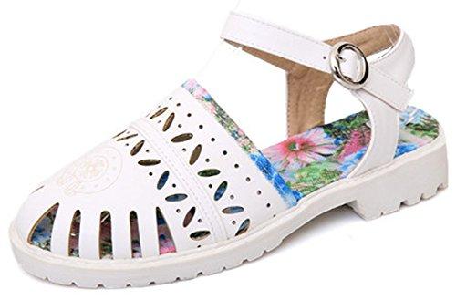 Closed Shoes Toe IDIFU White Women Gladiator Sandals 5f8wxBwq