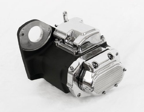 6-Speed Black and Chrome Transmission for Harley-Davidson Softail by Demons Cycle
