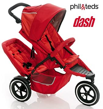 Amazon.com : Phil& Teds Dash Buggy Single with Free Doubles Kit ...