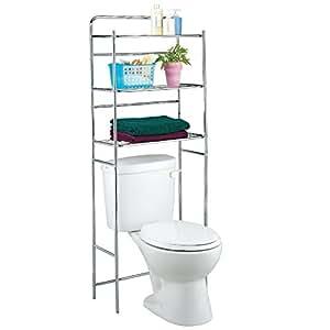 Idebox glo6258 estanter a para detr s de wc metal for Estanteria sobre wc