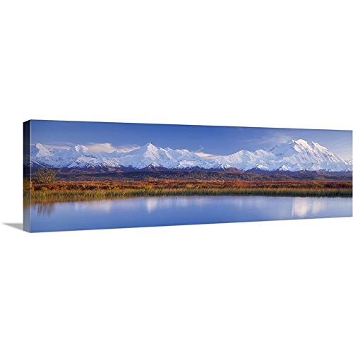GREATBIGCANVAS Gallery-Wrapped Canvas Entitled Pond Denali National Park AK by 72